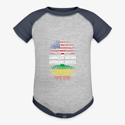 American Grown With African Roots T-Shirt - Baseball Baby Bodysuit