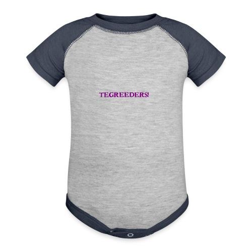 Tegreeders all baby MERCH! - Baseball Baby Bodysuit