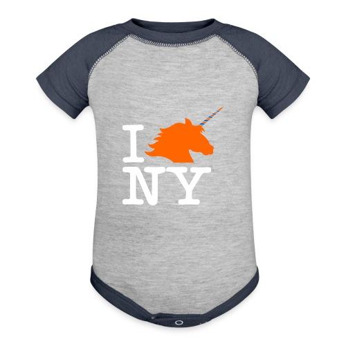 I Unicorn New York (Kristaps Porzingis) - Contrast Baby Bodysuit