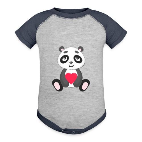 Sweetheart Panda - Contrast Baby Bodysuit