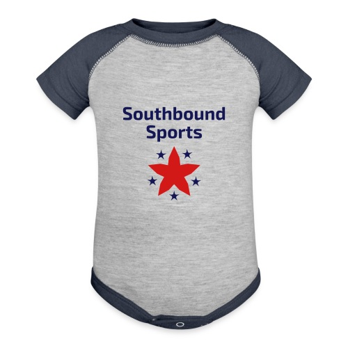 Southbound Sports Stars Logo - Baby Contrast One Piece