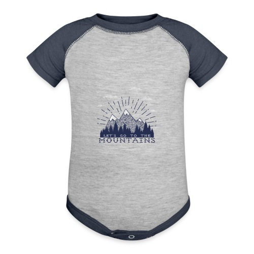 Adventure Mountains T-shirts and Products - Contrast Baby Bodysuit