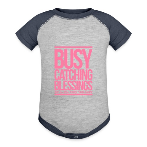 Busy Catching Blessings - Contrast Baby Bodysuit