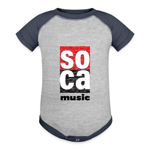 Soca music - Contrast Baby Bodysuit