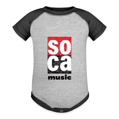 Soca music - Baseball Baby Bodysuit