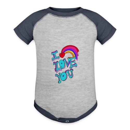I Love you - Baseball Baby Bodysuit