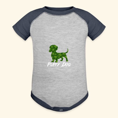 PUFFY DOG - PRESENT FOR SMOKING DOGLOVER - Baseball Baby Bodysuit