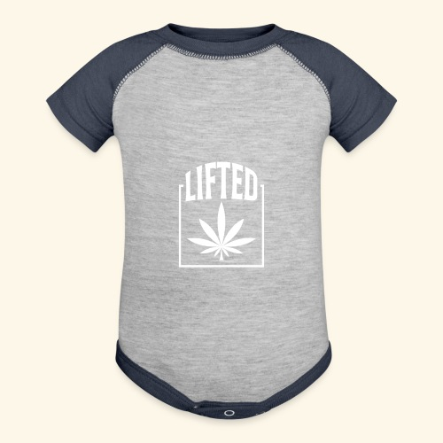 LIFTED T-SHIRT FOR MEN AND WOMEN - CANNABISLEAF - Contrast Baby Bodysuit