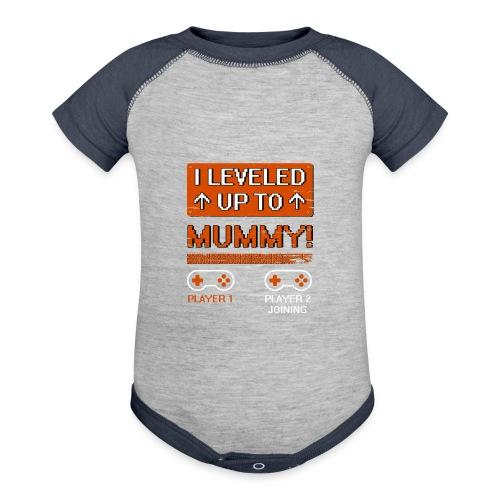 I Leveled Up To Mummy - Baseball Baby Bodysuit