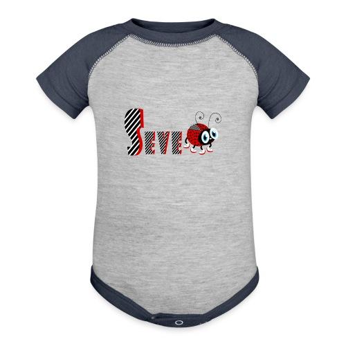 7nd Year Family Ladybug T-Shirts Gifts Daughter - Baseball Baby Bodysuit