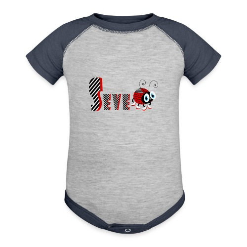 7nd Year Family Ladybug T-Shirts Gifts Daughter - Contrast Baby Bodysuit