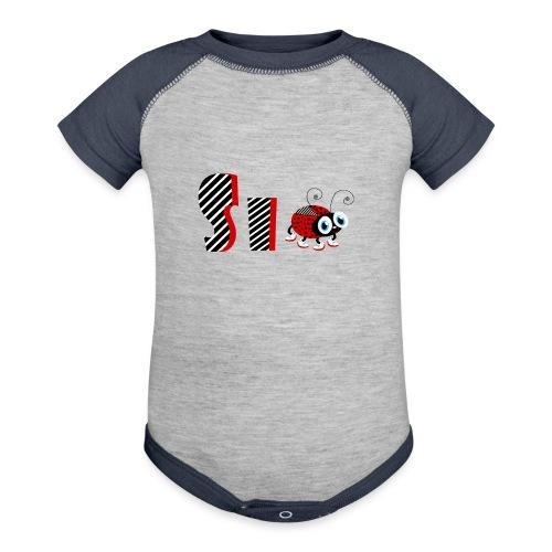 6nd Year Family Ladybug T-Shirts Gifts Daughter - Baseball Baby Bodysuit
