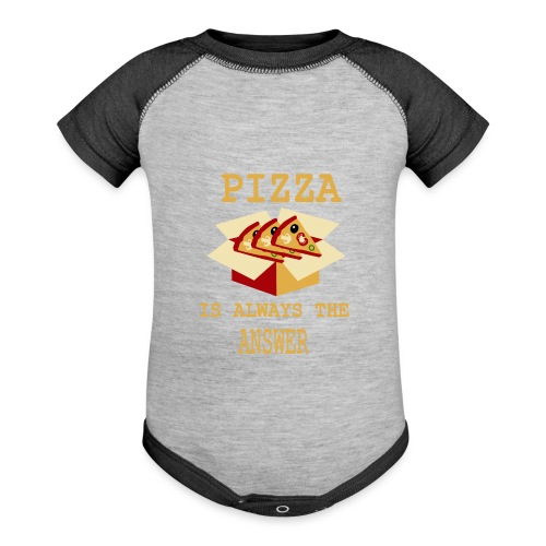 Pizza Is Always The Answer - Baseball Baby Bodysuit