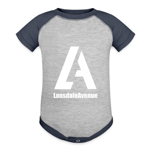 Lonsdale Avenue Logo White Text - Baseball Baby Bodysuit