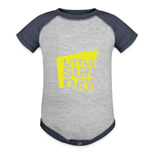 littleSUNDAY Official Logo - Contrast Baby Bodysuit