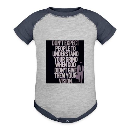 HUSTLE 10 - Contrast Baby Bodysuit