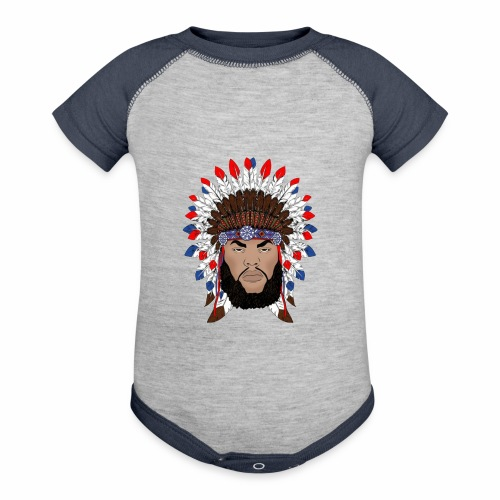 Dane Calloway American Indian Logo - Contrast Baby Bodysuit