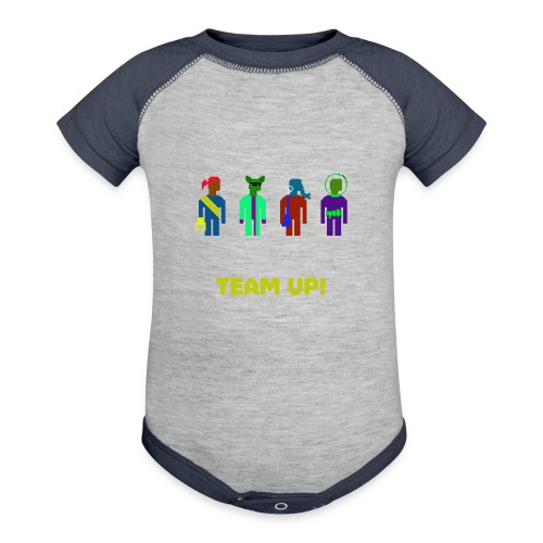 Spaceteam Team Up! - Contrast Baby Bodysuit