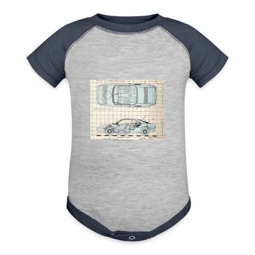 drawings - Baseball Baby Bodysuit