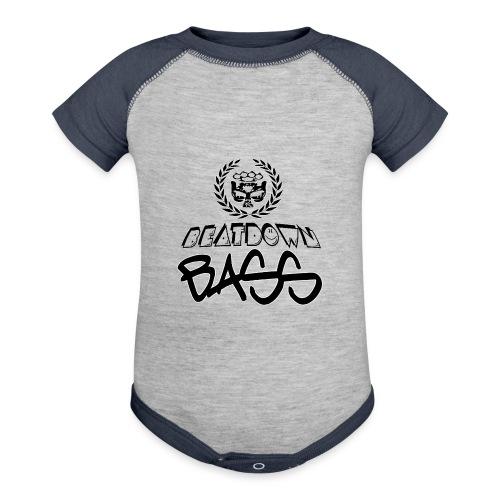 BEATDOWN BLACK LOGO - Baseball Baby Bodysuit