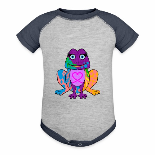 I heart froggy - Contrast Baby Bodysuit