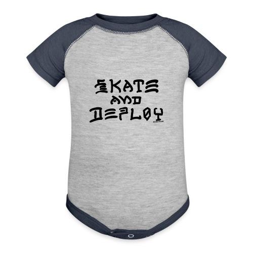 Skate and Deploy - Baseball Baby Bodysuit