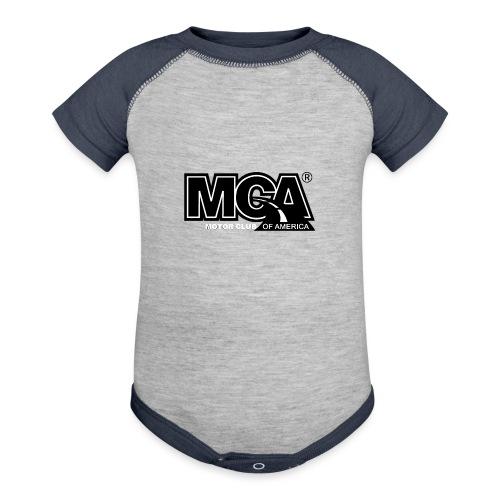 MCA Logo WBG Transparent BLACK TITLEfw fw png - Baseball Baby Bodysuit