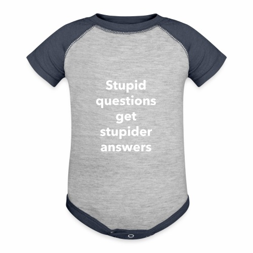Stupid Questions - Baseball Baby Bodysuit