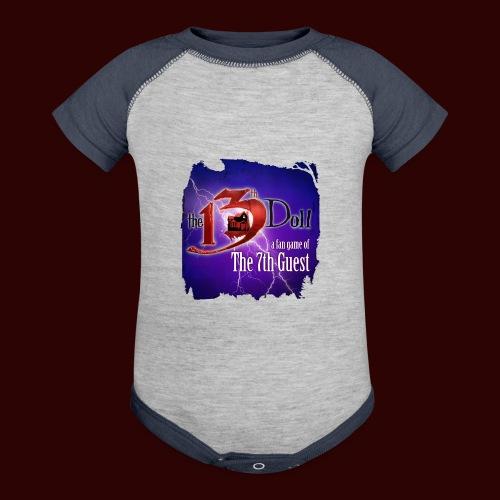 The 13th Doll Logo With Lightning - Baseball Baby Bodysuit