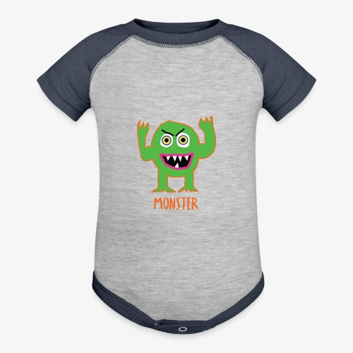 Monster - Baseball Baby Bodysuit
