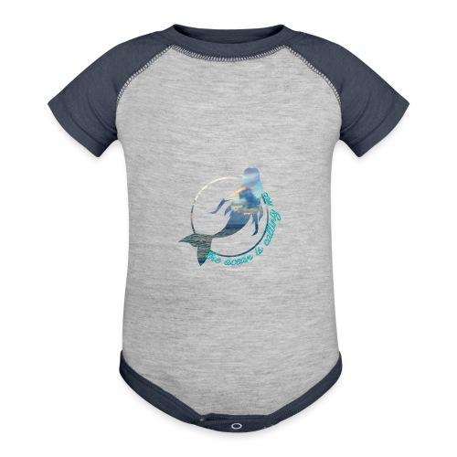 ocean - Contrast Baby Bodysuit