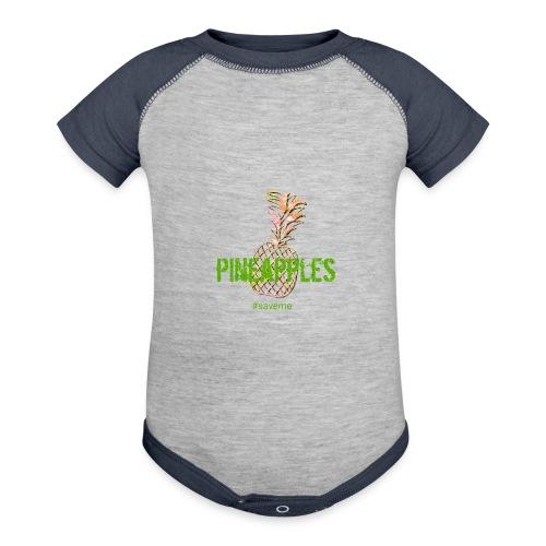 pineapples - Contrast Baby Bodysuit