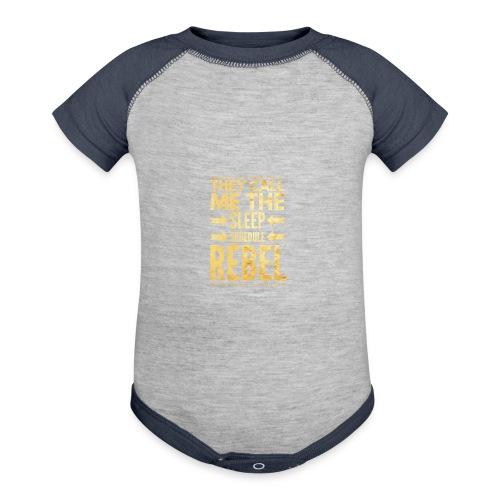 Sleep Schedule Rebel - Contrast Baby Bodysuit