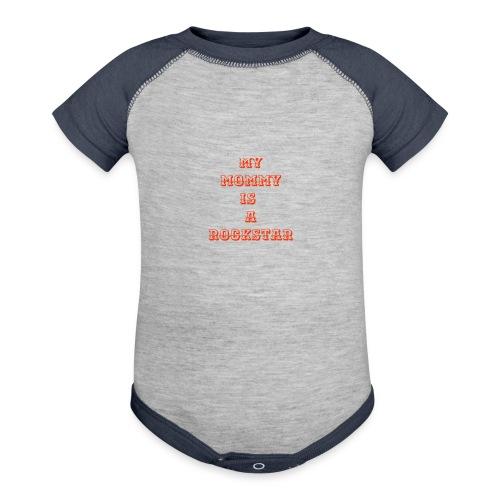 my mommy is a rockstar - Contrast Baby Bodysuit
