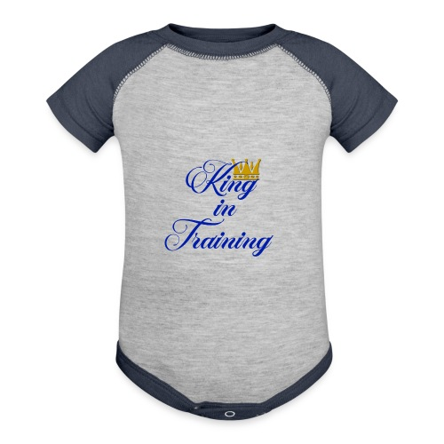 King in Training - Contrast Baby Bodysuit