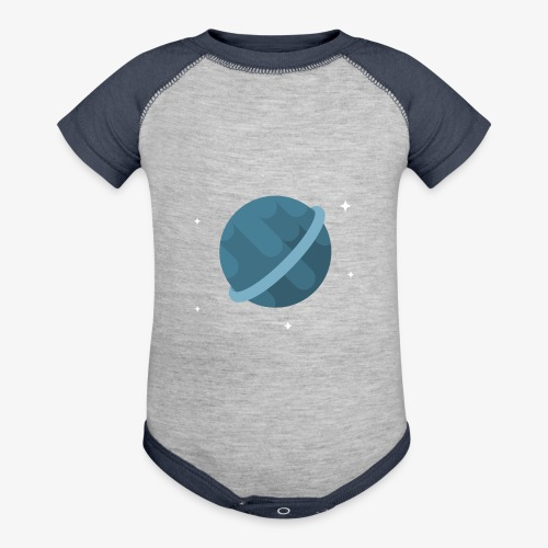 Tiny Blue Planet - Contrast Baby Bodysuit