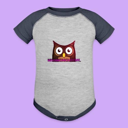 MissMidnightOwl Baby Owl Clothing - Baseball Baby Bodysuit