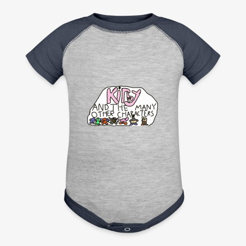 Kirby and the many other characters - Baseball Baby Bodysuit