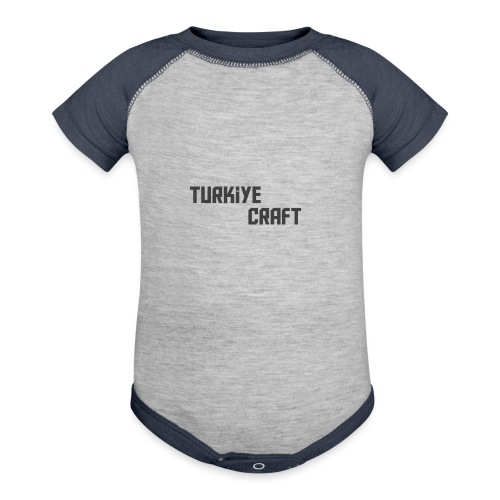 TurkiyeCrafts Solid Logo - Baseball Baby Bodysuit