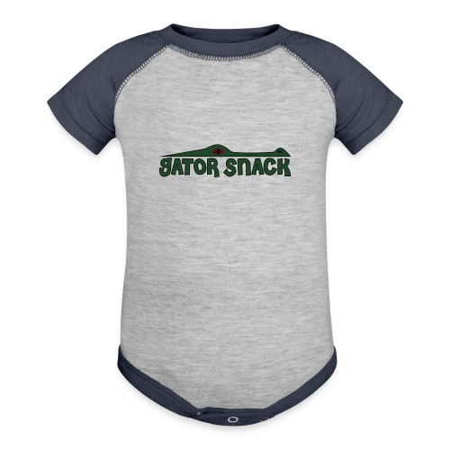 Gator Snack - Baseball Baby Bodysuit