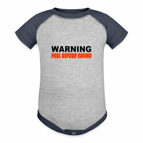 Peel Before Eating - Baseball Baby Bodysuit