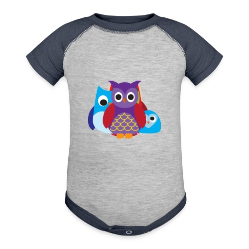 Cute Owls Eyes - Baseball Baby Bodysuit