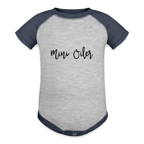 MiniOilerShirt - Baby Contrast One Piece