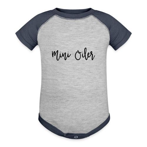 MiniOilerShirt - Contrast Baby Bodysuit