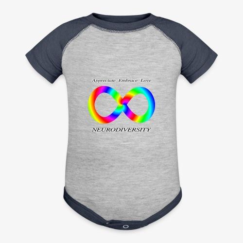 Embrace Neurodiversity with Swirl Rainbow - Contrast Baby Bodysuit