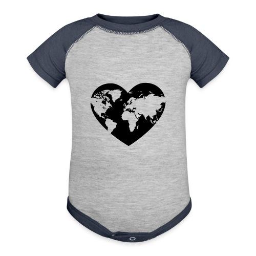 Earth Love - Baseball Baby Bodysuit