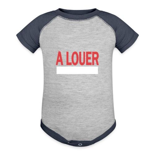 A Louer - Baseball Baby Bodysuit