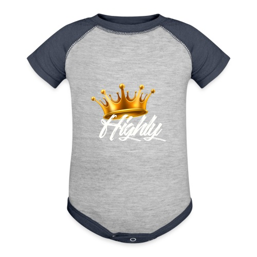 Highly Crown Print - Baseball Baby Bodysuit