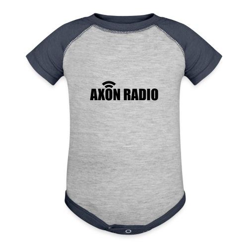 Axon Radio | Midnight label apparel - Baseball Baby Bodysuit