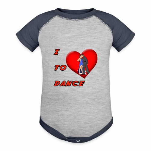 I Heart Dance - Baseball Baby Bodysuit